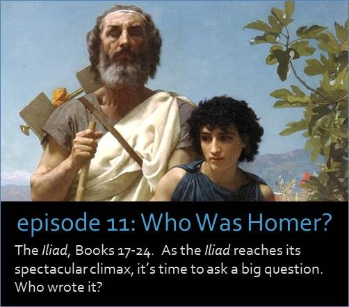 The Iliad, part 3 of 3. As the Iliad reaches its spectacular climax, it's time to ask a big question. Who wrote it? The picture shows a marble bust of Homer at the British museum, superimposed against a manuscript called the Harris Homer.