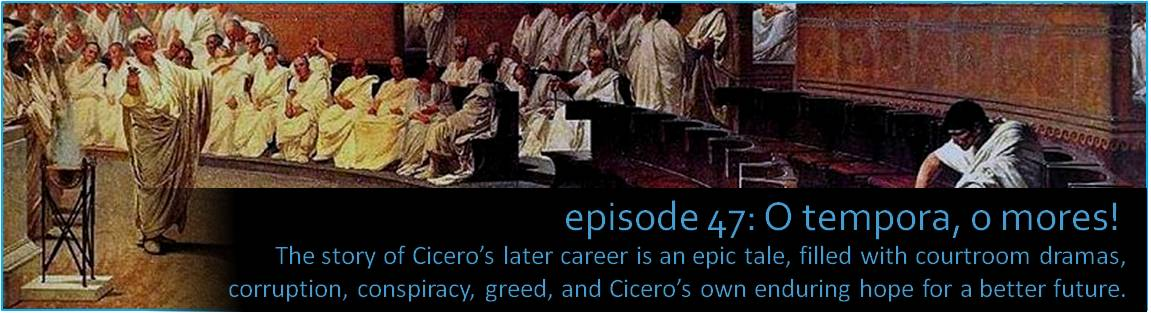 The story of Cicero's career is an epic tale, filled with courtroom dramas, corruption, conspiracy, greed, and Cicero's own enduring hope for a better future.