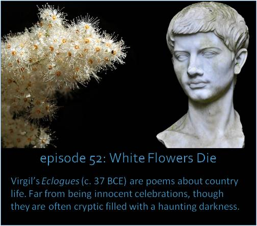 Virgil's Eclogues (c. 38 BCE) are poems about country life. Far from being innocent celebrations, though, they are often cryptic, and filled with a haunting darkness.